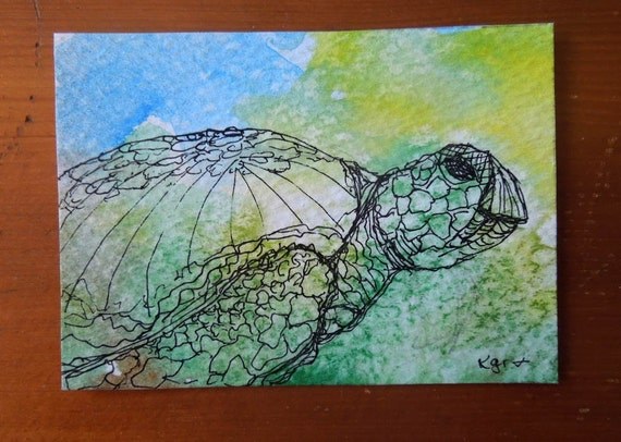 https://www.etsy.com/listing/154749372/sea-turtle-ooak-original-watercolor-and