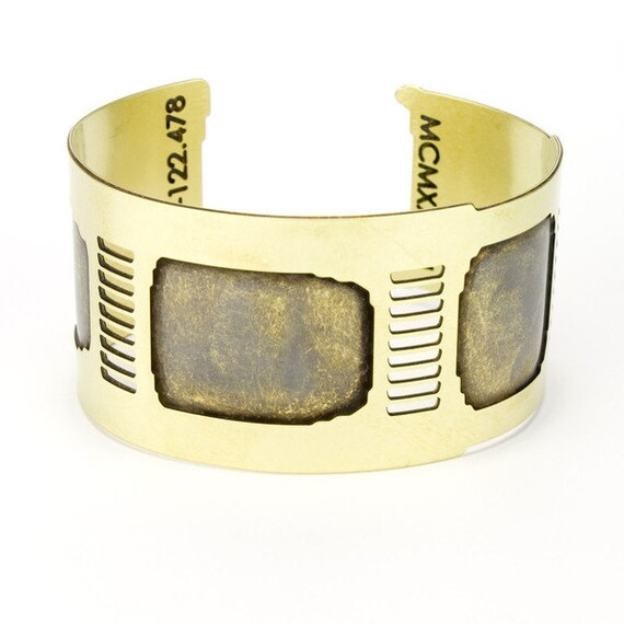Gold cuff bracelet - Golden Gate inspired