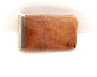 Handmade Wood Money Clip Australian Vasticola Burl Wood