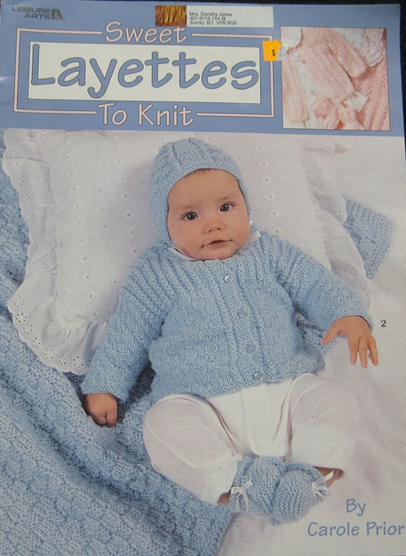 Leisure Arts Knitting Pattern Books : Baby Layettes Knitting Pattern Book Leisure Arts by TheHowlingHag