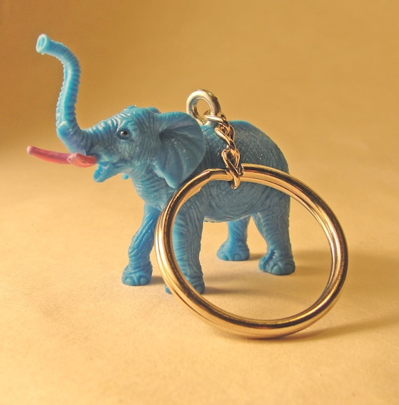Reserved for EMMA-Blue Elephant Keychain