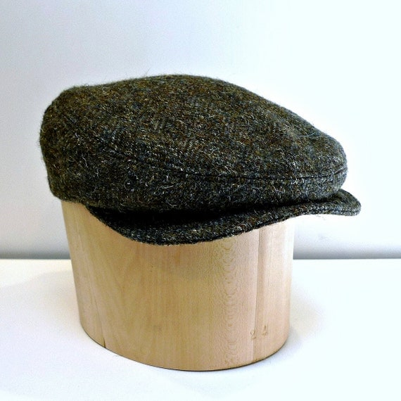 RESERVED - Men's Driving Cap in Vintage Wool Tweed with Ear Flaps - Made to Order