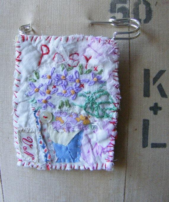 Handmade Brooch Pretty Posy