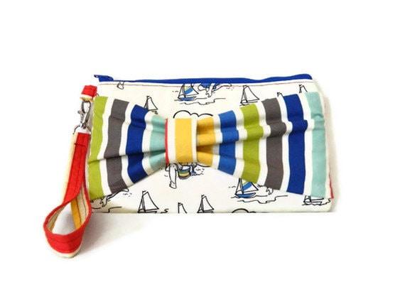 By the Seaside- Zipper Wristlet Clutch