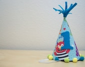 Monster First Birthday Party Hat