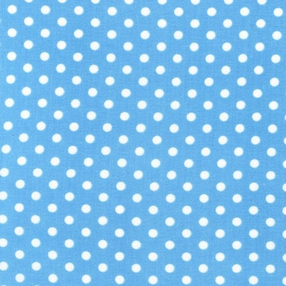 ON SALE---Everything is Nice---Dots in Aqua-1 yard--Pink Light Designs for Robert Kaufman