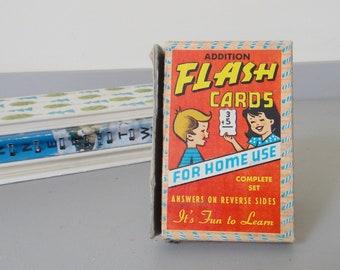 Vintage Boxed Set Addition Flash Cards - Built Rite 1950's