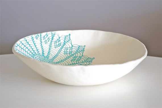 Blue Kitschy Bowl, Handmade