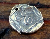 Initial Charm Artisan Handmade Letters Sterling silver  /CH30