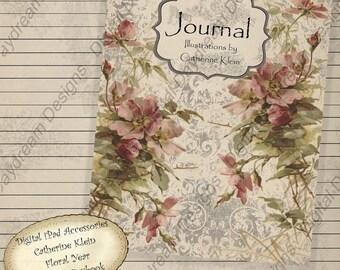 Printable Digital iPad Accessories - Journal Catherine Klein  Instant Download