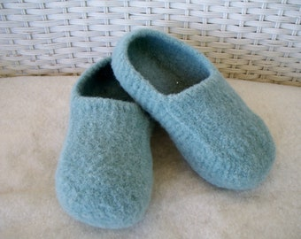 Sea Foam Wool Slippers felted wool slippers womens slippers wool slippers felted slippers wool house shoes boiled wool slippers women