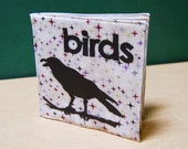 ON SALE Birds Cloth Book, printed on organic cotton
