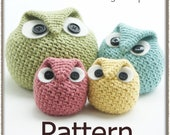 Chubby Owl Family - Crochet Pattern (PDF) - INSTANT DOWNLOAD