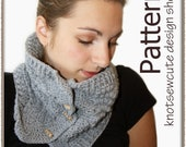 Button-Up Cowl - Crochet Pattern (PDF) - INSTANT DOWNLOAD
