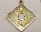 Not All Who Wander 14 Karat Gold Watch Fob and Pendant Locket with Compass