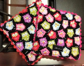 Sleepy Hoot Owls Pot Holder, Set of 2
