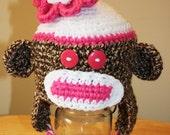FloraMonkey....the Flower Top Sock Monkey