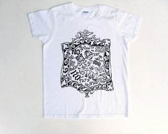 Womens No No No Tshirt, Can't Say No Shirt, Birthday Present, Novelty Tee, Fun Tee, White Cotton, Short Sleeve, Tee or Top, Silk Screened