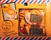 Kamio Japan Bon Voyage Cafe Sticker Sack
