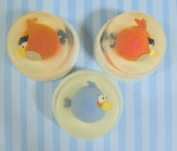 ANGRY BIRDS SOAPS - Cute, Perfect for kids  Toy eraser embeds