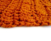 Baby Blanket Pumpkin Orange Rug photography prop, Spice Orange, Warm Colors, Fall Photos, Autumn, Newborn 20 x 20 inches