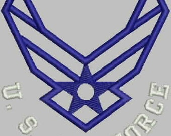 United States Air Force Outline Embroidery Designs