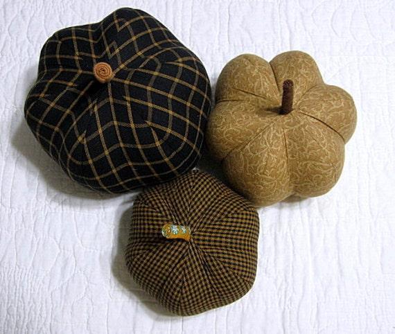 fabric pumpkins - all that glitters... - set of 3 p U m P k I nS - 06