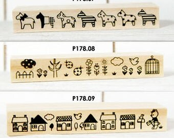 Wooden Rubber Stamp (P178.07 - Pony)