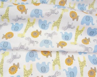 3086 - Animals Cotton Jersey Knit Fabric - 70 Inch (Width) x 1/2 Yard (Length)
