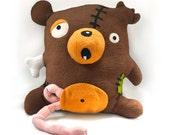 Zombie Bear pattern - PDF stuffed animal sewing pattern - halloween