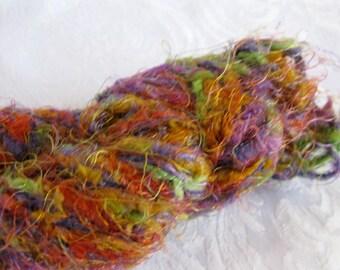 Ironstone Fireworks yarn 808, super bulky weight yarn, red purple green yellow rainbow jewel tones