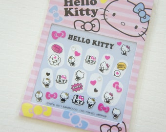 SALE Stock Hello Kitty Nail Sticker Sheet / Comic Pink