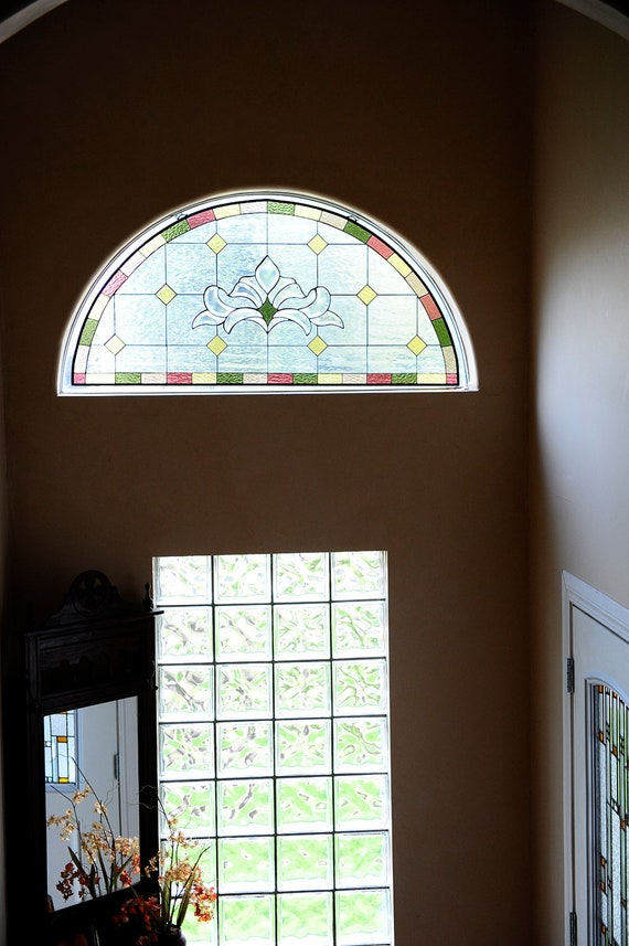 "Stained Glass Window/ Hanging Panel- ""Refined Arch"" (P-22)"