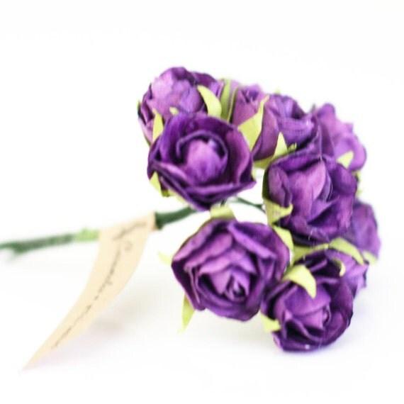 Wholesale 144 purple paper flowers