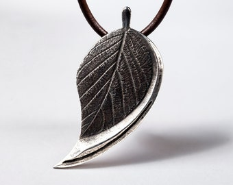 Leaf Blade Necklace Pendant Jewelry Sterling Silver