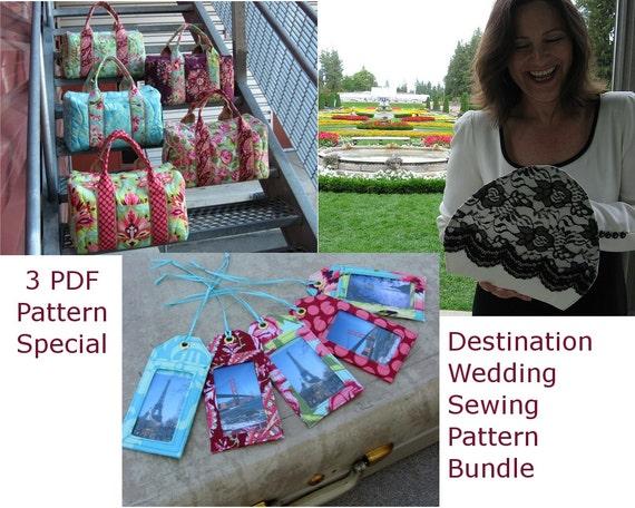 Destination Wedding Sewing Pattern Pack Special 3 PDF Patterns