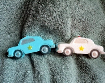 Police Car Soap - Police, Emergency, Mens soap, Fathers day, Birthday, Party favors, Police Cars, kid's soaps
