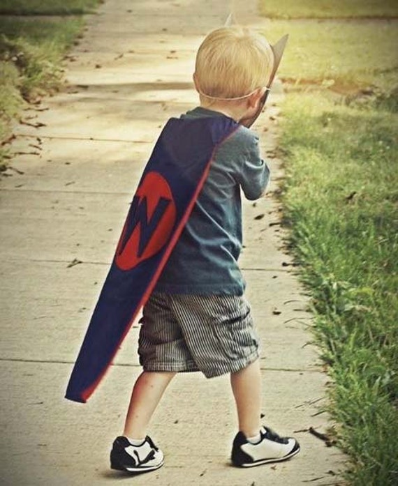Personalized Children's Superhero Cape - Boy Colors