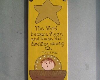 The Word became flesh Christmas Ornament/Wall Hanging