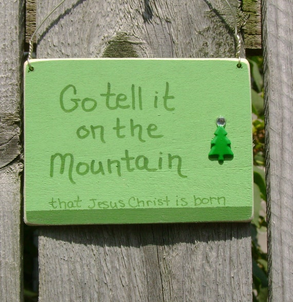 DOLLAR DAYS CLOSEOUT Go tell it on the Mountain Christmas Ornament