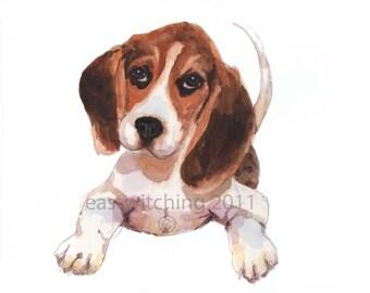 Beagle Print, beagle painting
