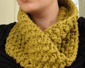 ORGANIC COTTON Neck Warmer - Olive Green - Scarf - Cowl - Infinity Scarf