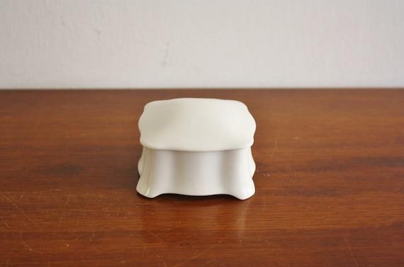 Vintage white porcelain box, Austria