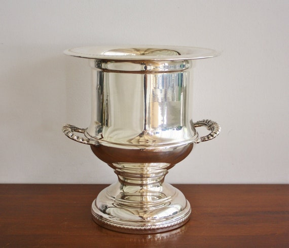 Large vintage silver ice bucket or champagne bucket