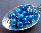 Blue Pearl Charm - Palace Blue Pearl - Add to Necklace, Bracelet - Sterling Silver or Gold Jewelry