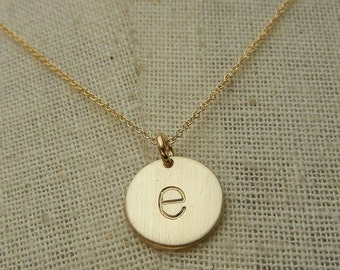 Gold Letter Necklace | Gold Initial Necklace | Letter Charm Necklace | Initial Charm Necklace | Typewriter Letter | Chelsea | E. Ria Designs