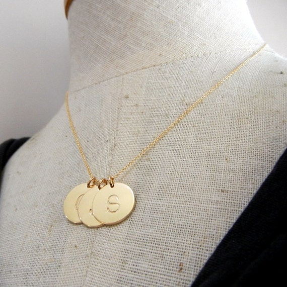 gold initial necklace gold letter charm jewelry dot