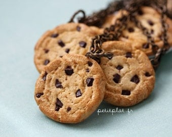 Cookie Necklace, Realistic Miniature Food Jewelry