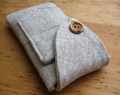 iPhone 5 Case Handmade Vintage Wool Oatmeal iSockit