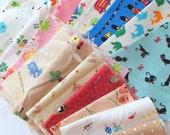destash fabric sale - kawaii (small pieces of fabric)